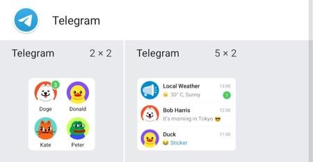 Widgetstelegram