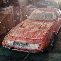 A subasta este Ferrari Daytona 'Alloy' único, descubierto recientemente cubierto de polvo