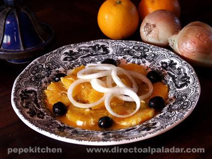 Ensalada de cebolla y naranjas a la marroquí. Receta