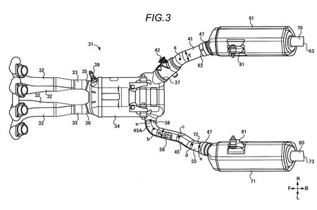 Suzuki ha patentado un escape asimétrico y variable que podría utilizarse en una nueva Hayabusa