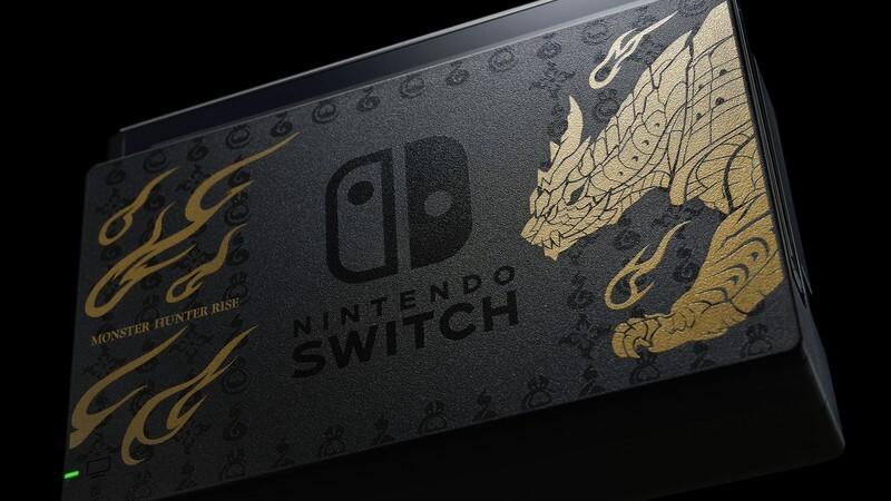Así es la edición especial de Nintendo Switch con la que Nintendo celebrará el lanzamiento de Monster Hunter Rise