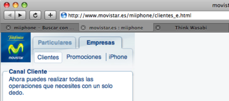Se filtra el portal web de Movistar para el iPhone