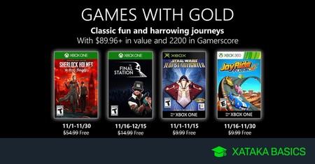 Juegos De Xbox Gold Gratis Para Xbox One Y 360 De Noviembre 2019