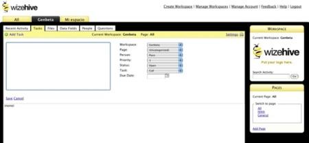 WizeHive, gestión de grupos de trabajo a través de la web