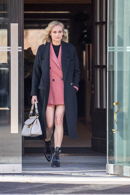 Diane Kruger Wearing Mango In Berlin Rights From 12022019 Pr Sm Ww