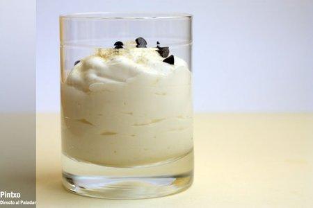 Espuma de yogur. Receta