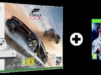 ¿Ganas de fútbol? Pack Xbox One S + FIFA 18 + Forza Horizon 3 por 239,95 euros. Envío gratis.