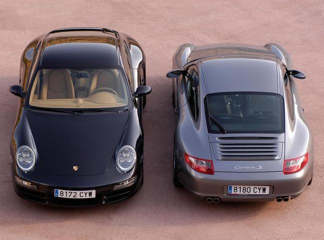 Porsche 911 997 frontal y trasera