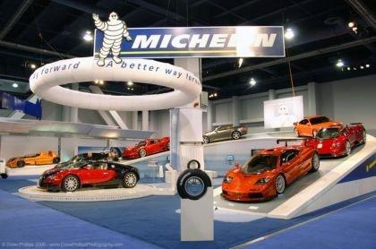 El stand de Michelin en el SEMA Show