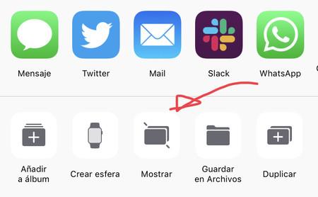 mostrar foto oculta en iPhone