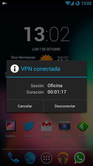Desconectar VPN