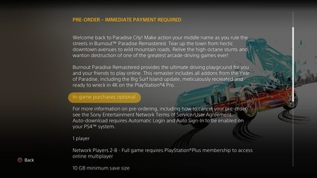 Burnout Paradise Remastered Microtransacciones