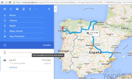 Google Maps para Android permitirá muy pronto navegar hacía múltiples destinos