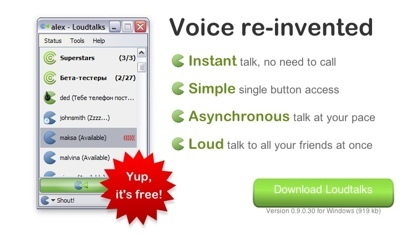 "Loudtalks, el ""walkie talkie"" para Windows"