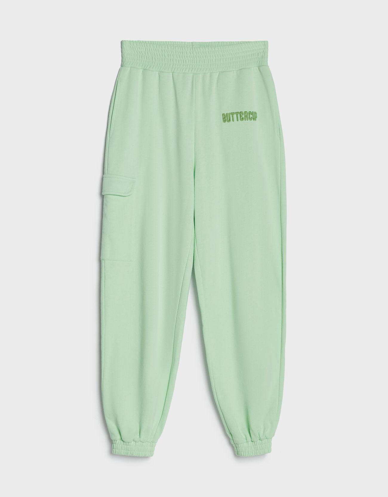 Pantalón tipo jogger en verde.
