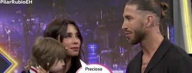 """Sergio Ramos conmueve a Pilar Rubio irrumpiendo en 'El Hormiguero' con su hijo Marco: """"Ella es mi compañera de viaje para todo"""""""