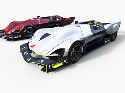 Así de espectaculares podrían ser los Tesla LMP1 para correr en las 24 Horas de Le Mans 2030