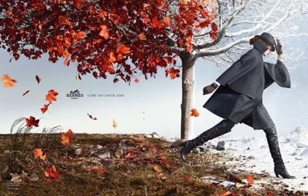 Hermès juega a pasar las estaciones en su nueva campaña de otoño