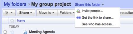 Carpetas compartidas en Google Docs