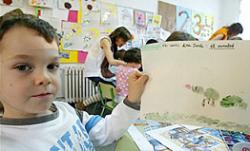 Cuentos en catalán en una escuela de Madrid