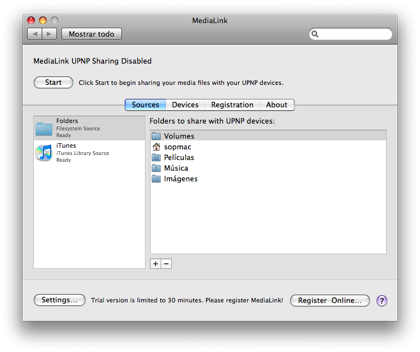 MediaLink, accede a los recursos de tu Mac desde una PS3