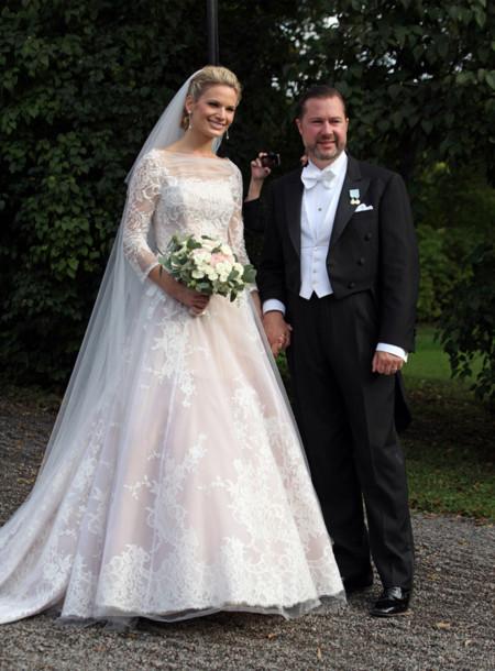 La novia Vicky Andren y su vestido de boda, la sensación de la ...