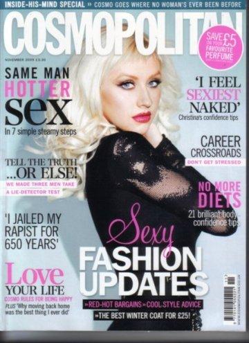 Christina Aguilera posando para Cosmopolitan UK, Noviembre 2009