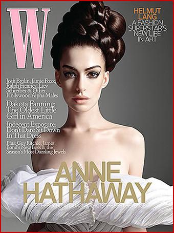 Anne Hathaway posa deslumbrante en el número de Octubre de la revista W
