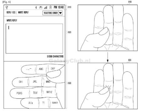 Teclado y gestos del Galaxy Glass
