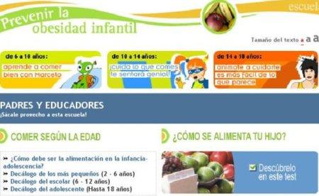 Nueva web de Consumer para luchar contra la obesidad infantil