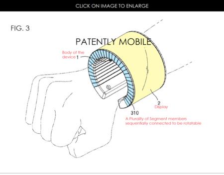 ¿Un smartphone enrollado en la muñeca? Así es la nueva patente de Samsung