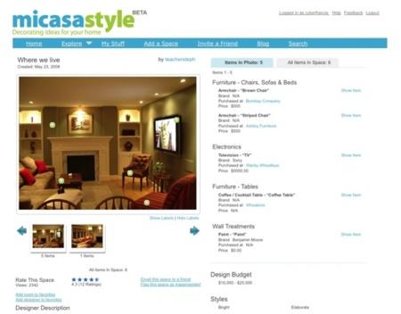 Micasastyle, red social para decoradores de hogares