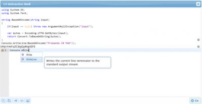 Escribe y prueba código C# desde tu navegador