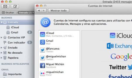 Cómo reordenar fácilmente las cuentas de correo de OS X Mavericks
