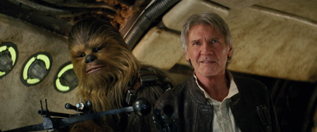 Harrison Ford Y Chewbacca Star Wars El Despertar De La Fuerza
