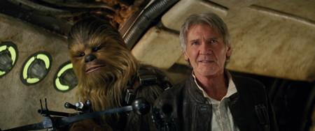 Harrison Ford Y Chewbacca Star Wars El Despertar De La Fuerza