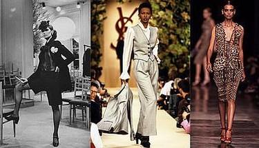 Imágenes de los desfiles de Yves Saint Laurent a lo largo de las décadas