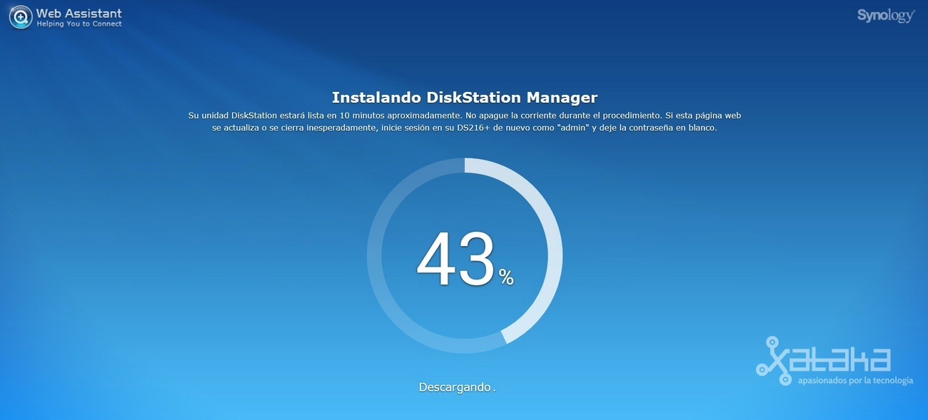 Foto de Instalación del software Synology DiskStatio DS216+ (3/7)
