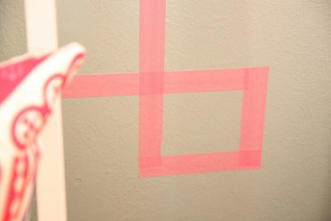 Detalle del ángulo de Washi tape