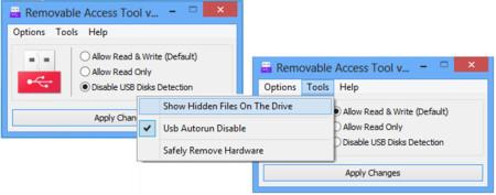 Removable Access Tool, limitando el acceso de las memorias USB