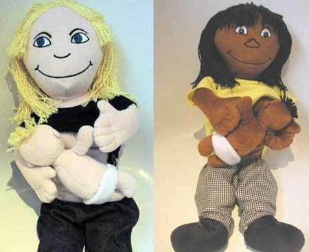 Muñecas que amamantan a sus bebés