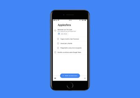 Google Tasks, así es el nuevo gestor de tareas de Google para iPhone