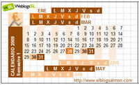 Calendario Pulgar 2009
