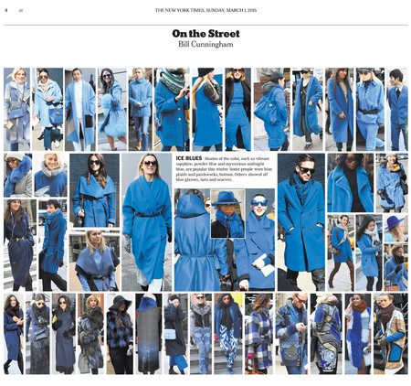 Bill Cunningham for the NY Times, 2015
