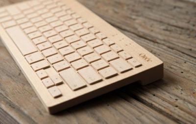 Un teclado inalámbrico ¡de madera!