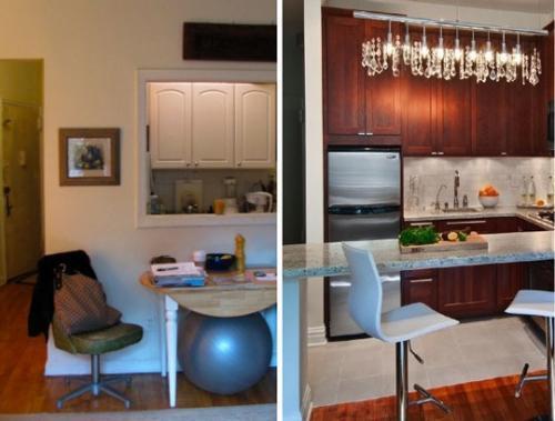 Cocinas peque as comer en la cocina - Como distribuir una cocina cuadrada ...