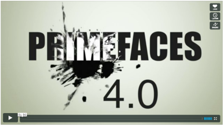 Vídeo promocional de PrimeFaces 4.0