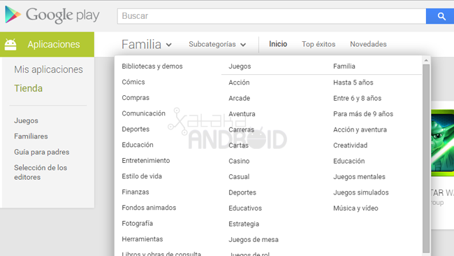 Google Play Familias