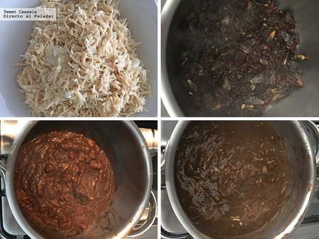 Pozole Negro con huitlacoche y frijoles