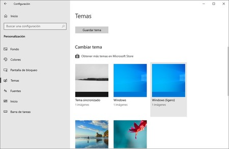 Tema Ligero Windows 10
